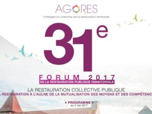 Mapotempo participe au 31e forum Agores : restauration publique territoriale