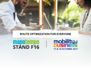 Mapotempo will participate in Mobility for Business on October 17 and 18 2017, stand F16