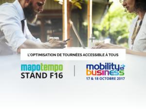 Mapotempo participera au salon Mobility for Business les 17 et 18 octobre 2017, stand F16