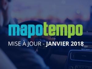 Janvier 2018, découvrez les nouveautés de la dernière mise à jour de Mapotempo Web