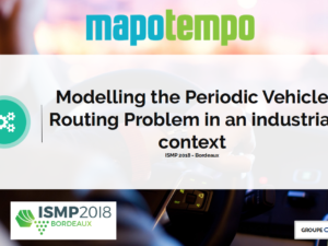 Presentation of our work on the modelling of the Periodic Vehicle Routing Problem