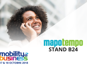 Mapotempo participe au salon Mobility for Business les 17 et 18 octobre 2018, stand B24
