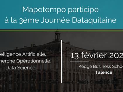 Mapotempo participera à la Journée Aquitaine IA, RO et Data Science le 13 février 2020